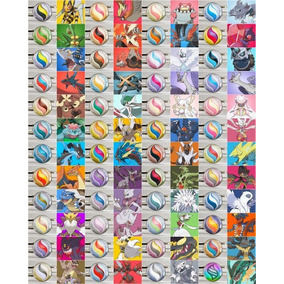 Pacote Mega Evoluções (48 Pokémon) Ultra Sun Moon Xy Oras
