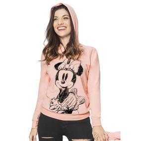 Sudadera Disney Dama Minnie Mouse Gorro Pink Retro 1390094