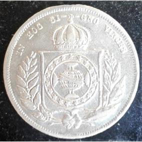 Arremate 1862 200 Reis Coroa Espinho Defeito Cunho Prata Fc
