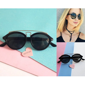 Óculos De Sol Feminino Masculino Redondo Redondinho Vintage 436d839560