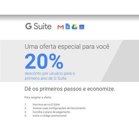 Cupom 20% Desconto Gsuite Gmail Empresarial Google G Suite