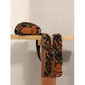 Cinturón De Mujer Artesanal De Tela, Multicolor