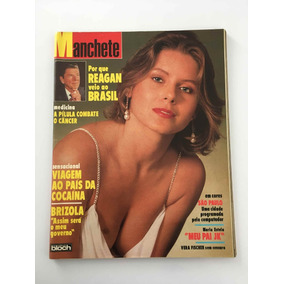 Revista Manchete Vera Fischer - 11 Dezembro 1982 - Nº 1599