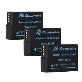 1500mah Batería Dmw-blc12 Para Panasonic... (3 Pack)