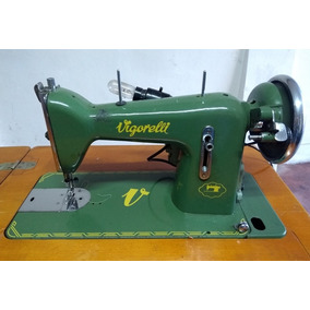 Máquina De Costura Antiga Vigorelli Com Gabinete Funcionando