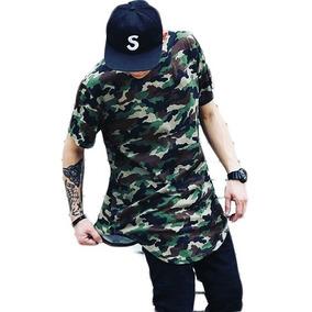 6d10c5893 Camiseta Long Line - Camisetas Manga Curta para Masculino no Mercado ...