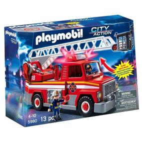 Playmobil City Action Caminhão De Bombeiro Com Escada Sunny