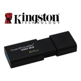 Memoria Usb 64gb 3.0 Kingston, Data Traveler 100 G3.