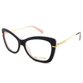 7257945768010 Armação Óculos Grau Feminino Gatinho Barato Acetato Preto