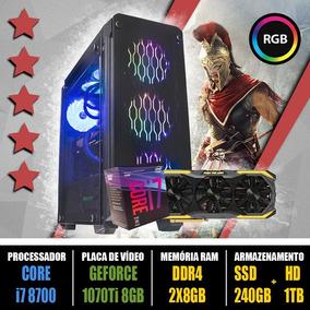Computador Gamer Core I7 8700 + Gtx 1070ti 8gb + Ssd 120gb