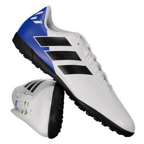 dcc67a478b Chuteira adidas Nemeziz Messi 18.4 Tf Society Juvenil Branca por Futfanatics