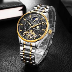 Hermoso Reloj Tevise Tourbillon Fase Lunar,automatico,envio