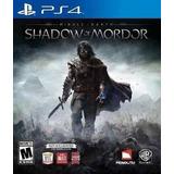 Juego Shadow Of Mordor Ps4 Usado Original