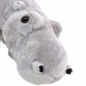 Pelúcia Hipopótamo Safári Cinza Com 33 Cm Comprimento Barato