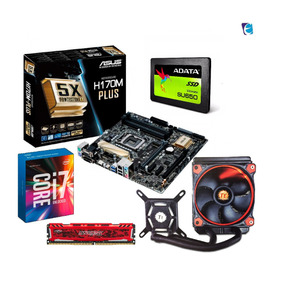 Kit Intel I7 7700k H170m Plus 8gb Bls Ad Ssd120 Water X120 I