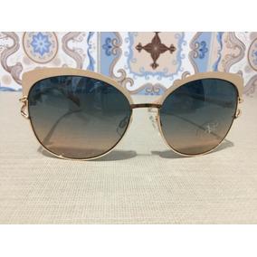 99c07e27ba2ca Óculos Sol Versace Italiano Original Dourado Com Bege Novo