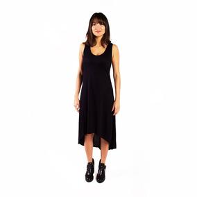Vestido Mullet Midi Preto