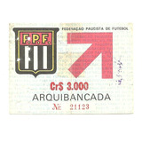 Ingresso Jogo Palmeiras X São Paulo - Camp. Paulista 1984