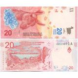 Fv * Billete - Argentina 2017 - 20 Pesos Guanaco Unc