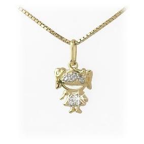 c010c5448eaa5 Pingente Menino De Diamantes, Safira, Ouro 18k 750 - Pingentes de ...