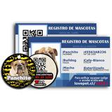 Placa Mas Cédula Para Mascotas Personalizados