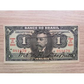 Brasil Antigo - Cédula De Um Mil Reis - 1923 - Assinada