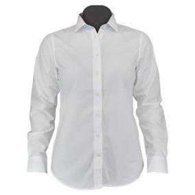 Blusa Vestir Casual Manga Larga Arie Blanca Moderna Algodón