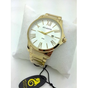 7ec81511bac Relogio Atlantis Dourado - Relógio Atlantis Masculino no Mercado ...