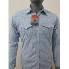 9f4cc87d72 Camisas Vaqueras Estampadas - Camisas Manga Larga de Hombre Celeste ...