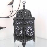 Lanterna Marroquina Decorativa Preta Porta Vela