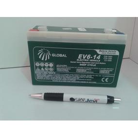 Bateria Mini Moto Elétrica Infantil Triciclo Criança 6v