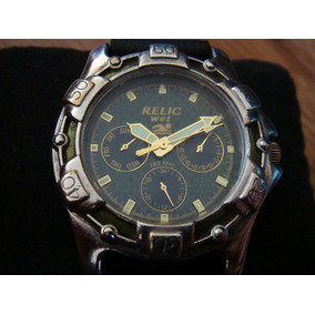 Reloj Relic Wet By Fossil Zr-15280. Dial Verde.