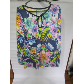 16caf0f6be Blusa Floral Para Senhora Tamanho Gg