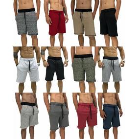 12 Bermuda Moletom Masculina Shorts Original Calção Moletim