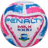 Bola De Futsal Max 1000 Termotec Oficial Branca Rosa E Azul