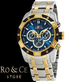 c78db359381 Reloj Invicta Hombre Azul Caja Amarilla - Relojes Pulsera en Mercado ...