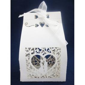 10 Caixa De Papel Branca Bem Casado Noivos Lembrancinha
