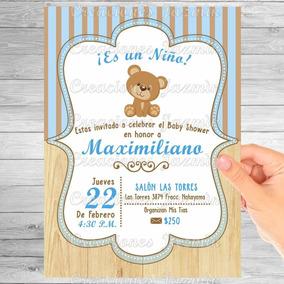Invitación Digital Osito Baby Shower