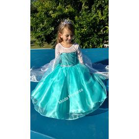 Vestido Disfraz .. Princesa Disney Elsa De Frozen