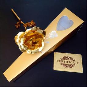 Rosa Baño De Oro 24k Flor Artificial Regalo De Amor 14 Feb