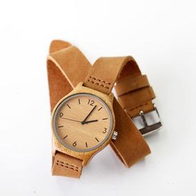 Mais Recente Moda Das Mulheres Relógios De Couro De Madei...
