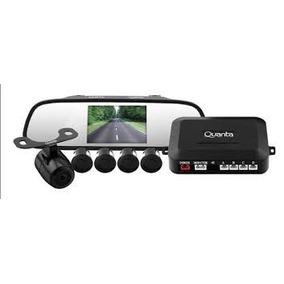 Espelho Retrovisor Lcd + Camera Ré + Sensor Estacionamento