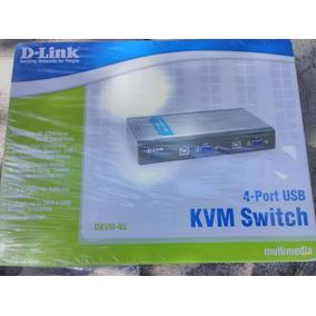 Switch Kvm 4 Puertos Usb Dkvm-4u