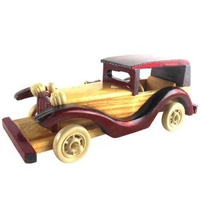 5de51354fa2 Carrinho Brinquedo Madeira Enfeite Decorativo Replica