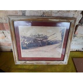 Quadro Foto Antiga Do Exército Carros De Combate
