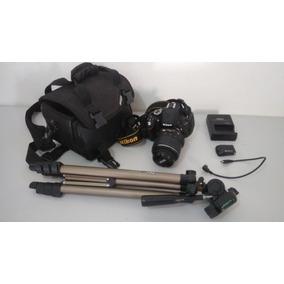 Nikon D5100+lente 18-55mm+cartão 32gb+tripé+gps+bolsa