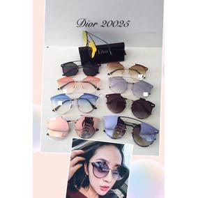 8d6f880c51045 Óculos De Sol Gatinho Feminino Redondo Aviador Frete +brinde