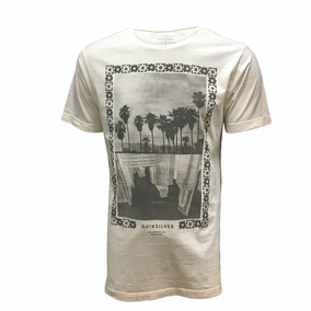 84259fdd49746 Bege Escuro Tam. Xl Camiseta Masculina Quiksilver Cinza - Camisetas ...