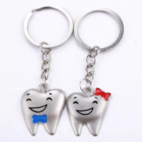 1 Par De Chaveiro Odontologia Dentista Dente Molar Odonto