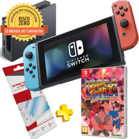 Nintendo Switch Neon + Jogo Ultra Street Fighter 2